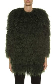 ALESSANDRA CHAMONIX Green fur coat