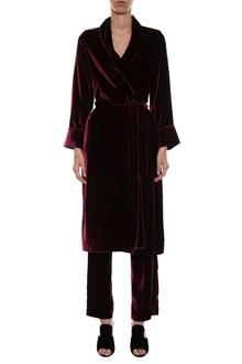 FOR RESTLESS SLEEPERS Velvet robe overcoat