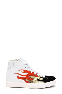 LEATHER CROWN Flame sneakers