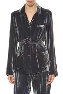 Mes Demoiselles... Paris giacca in velluto con cinta in vita