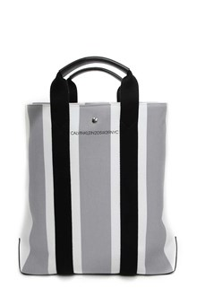 CALVIN KLEIN 205W39NYC Striped canvas tote bag
