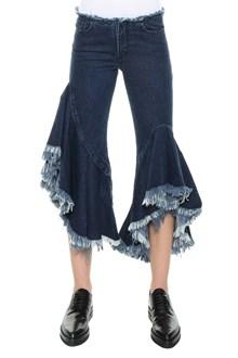 MARQUES ALMEIDA Flare frills jeans