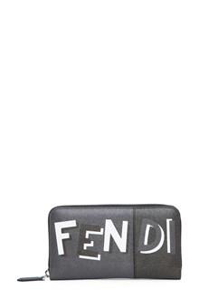 FENDI Zip-around wallet with logo