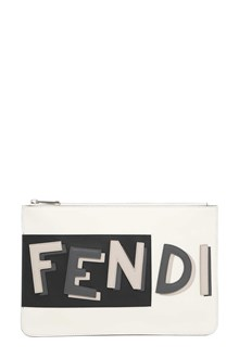 FENDI Leather pouch with logo