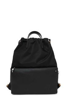 FENDI Nylon and leather backpack