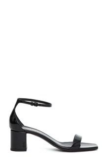 SAINT LAURENT Patent 'Loulou' sandals
