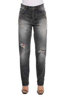 SAINT LAURENT Destroyed baggy jeans