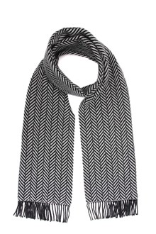 SAINT LAURENT Herringbone scarf