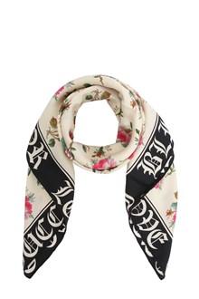 GUCCI Printed twill foulard