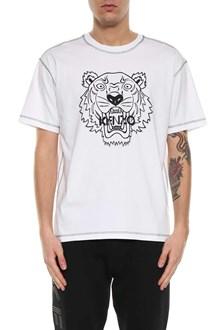 KENZO Tiger logo printed short sleeves t-shirt