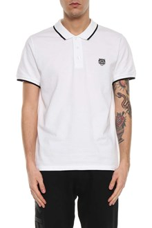 KENZO Tiger logo patch short sleeves polo