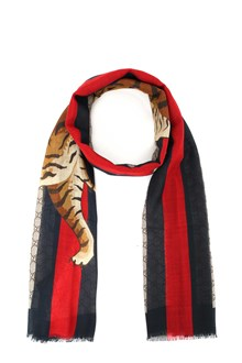 GUCCI Scarf with Tiger print
