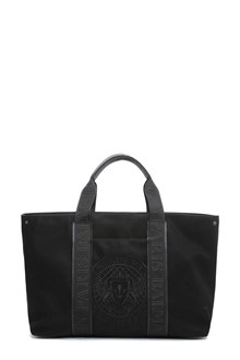 BALMAIN Canvas tote bag with shoulder strap