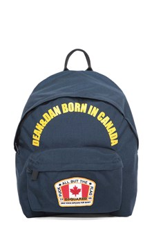 DSQUARED2 Nylon backpack with flag patch