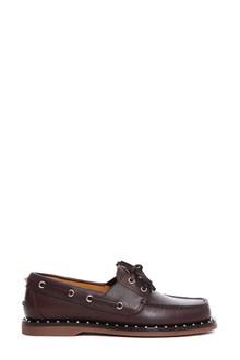 VALENTINO GARAVANI Leather boat shoes