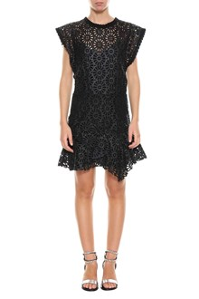 ISABEL MARANT 'Daisy' mini dress in perforated leather