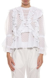 ISABEL MARANT Lace 'Zim' top with frills