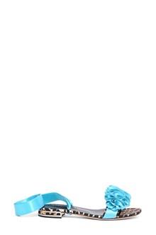 CASADEI Satin flat sandals