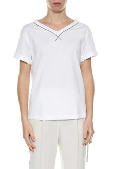 BRUNELLO CUCINELLI T-shirt with necklace detail