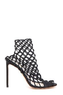 FRANCESCO RUSSO Elastic high heel cage sandal