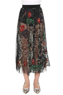 AMEN Embroidered tulle skirt