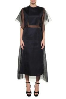 MAISON MARGIELA Dress with tulle inserts