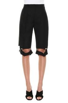 MAISON MARGIELA Bermuda shorts with cut-out
