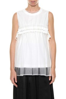 NOIR KEI NINOMIYA Top with tulle overlay