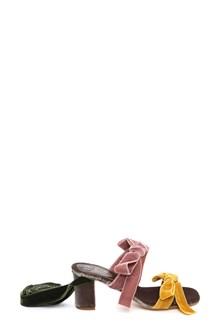 GIA COUTURE 'Paris' velvet sandals