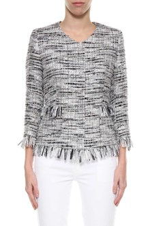 TAGLIATORE Tweed blazer with fringed edges