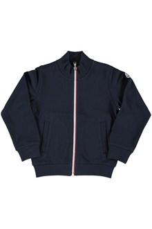MONCLER Sweatshirt with tricolor zipper