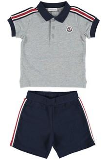 MONCLER Polo shirt and shorts