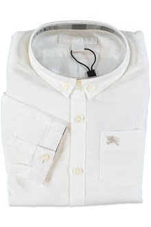 Burberry White shirt with embroidery