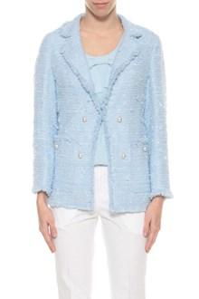 EDWARD ACHOUR PARIS Tweed blazer with pearls button