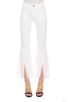 FEDERICA TOSI Jeans with slit and fringed hem