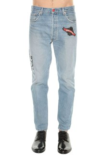 HISTORY REPEATS Levi's vintage jeans with patches and print