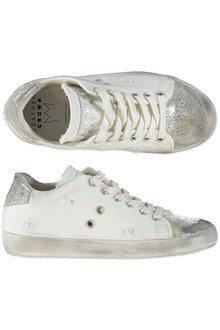 LEATHER CROWN white and silver sneakres from Leather Crown