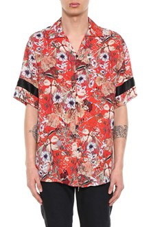 REPRESENT Red floral printed short sleeved shirt