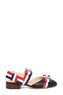 THOM BROWNE Slingback flat with bow straps