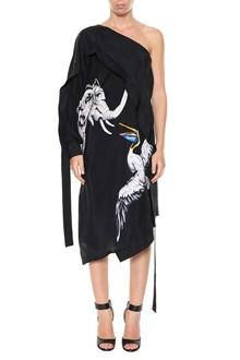 KRIZIA Printed one-shoulder dress