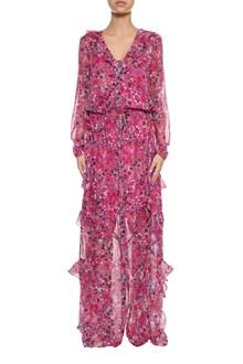 SALONI Izzie printed silk long dress