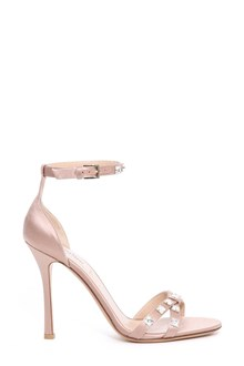 VALENTINO GARAVANI Satin sandals with crystals