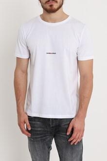 SAINT LAURENT Logo print jersey Tee