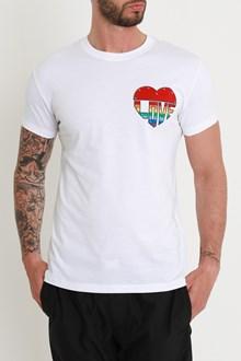 VALENTINO t-shirt jersey slim love +stud