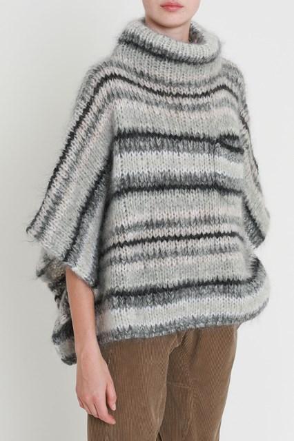 de lana tejida Cucinelli Capa con alto Brunello cuello dawU4x