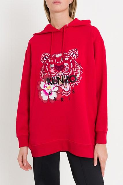 Women Jersey sweatshirt with Tiger classic embroidery disponibile su ... a8f18ed1b0b
