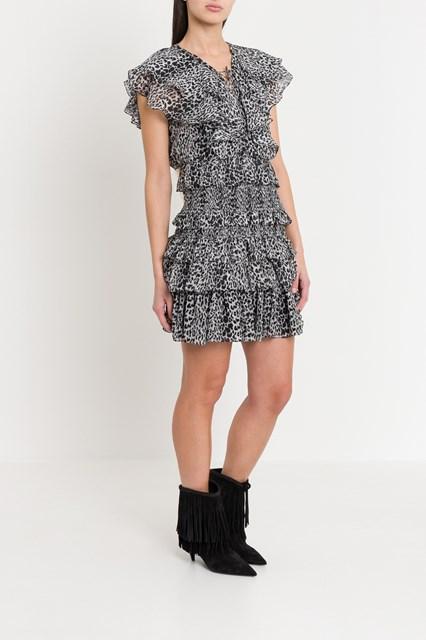 b9a4e67d4d0 Women Flounce dress in leopard print chiffon disponibile su ...