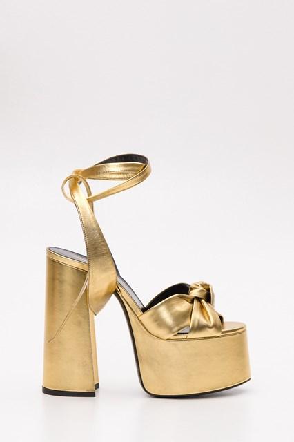 49417b834857 Women Paige sandals in metallic leather disponibile su ...