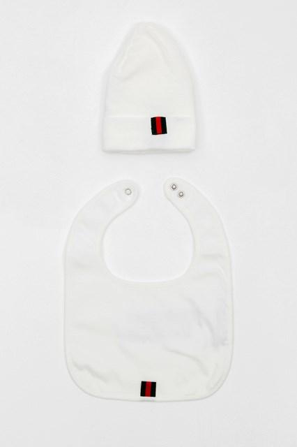 Unisex baby Baby Gucci logo cotton gift set disponibile su ... b7ee341c4dbdd