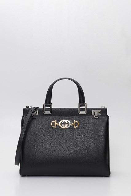 ff407e6d9953c0 Women Gucci Zumi grainy leather medium top handle bag disponibile su ...